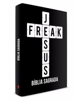 Bíblia Sagrada Jesus Freak | Pr. Lucinho | NVI |  Capa Dura | Preta