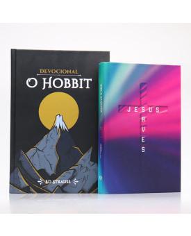 Kit Bíblia ACF Letra Normal Jesus Saves + Devocional O Hobbit | Aventuras Diárias
