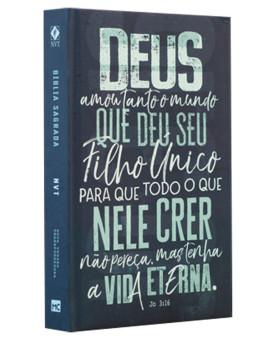 Bíblia Sagrada | NVT | Letra Normal | Capa Dura | João 3:16 Azul