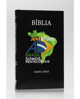 Bíblia Juventude AD do Brasil | RC | Harpa Cristã | Letra Normal | Capa Dura | Preta