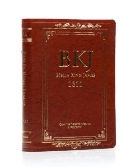 Bíblia Sagrada | King James Fiel 1611 | Letra Grande | Luxo | Marrom