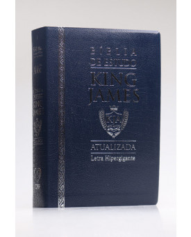 Bíblia de Estudo | King James Atualizada | Letra Hipergigante | Luxo | Azul