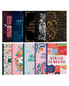 Kit 10 Bíblias | ACF | Capa Dura | Letra Média