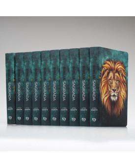 Kit 10 Bíblias   RC   Soft Touch   Leão Aslam