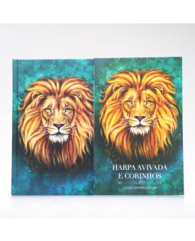 Kit Bíblia ACF Capa Dura Leão Aslam + Harpa Avivada e Corinhos Leão Aslam | Louvando ao Senhor