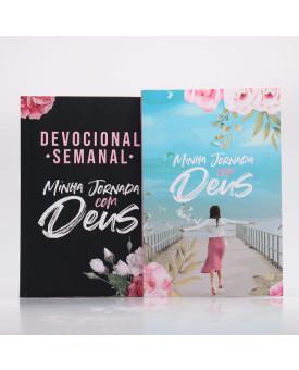 Kit Devocional Semanal Flores Cruz + Minha Jornada com Deus | Menina dos Olhos