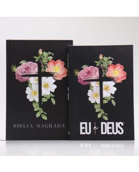 Kit Bíblia ACF + Devocional | Flores Cruz
