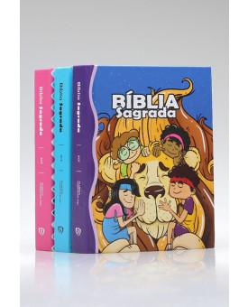 Kit 3 Bíblias | Turminha Família Cristã
