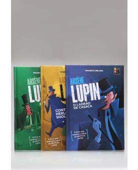 Kit 3 Livros | Arsène Lupin | Capa Dura | Pé da Letra