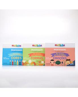 Kit 3 Livros   Montessori   Meu Primeiro Box de Atividades