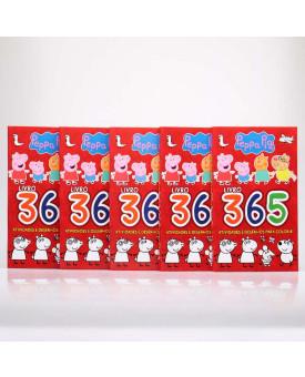 Kit 5 Livros | 365 Atividades e Desenhos Para Colorir | Peppa Pig