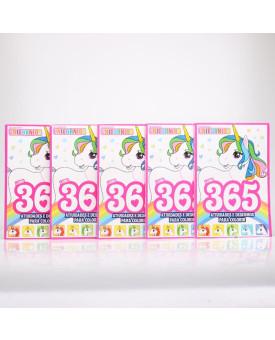 Kit 5 Livros | 365 Atividades e Desenhos Para Colorir | Unicórnios