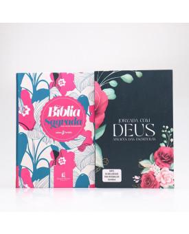 Kit Bíblia Com Espaços Para Anotações + Jornada Através das Escrituras | Mulher de Fé