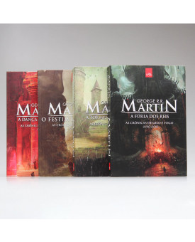 Kit 4 Livros   As Crônicas de Gelo e Fogo   George R. R. Martin
