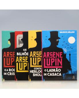 Kit 4 Livros | Arsène Lupin | Maurice Leblanc