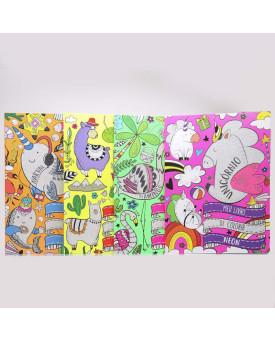 Kit 4 Livros   Meu Livro de Colorir Neon   Todolivro