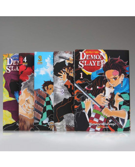 Kit 5 Livros | Demon Slayer: Kimetsu no Yaiba | Koyoharu Gotouge