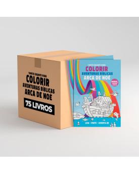 Kit 75 Livros | Tapete Gigante Para Colorir | Arca de Noé