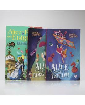 Kit 3 Livros | Desafiando Alice | Lewis Carroll