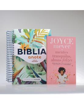 Kit Tranquilize Sua Alma | Bíblia Sagrada Anote NVT + Livro