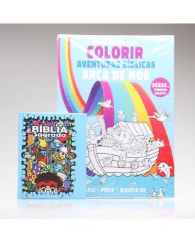 Kit Bíblia Sagrada Infantil Cartoons + Tapete Para Colorir   Aprendendo Sobre a Bíblia