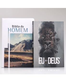 Kit Bíblia do Homem + Eu e Deus | Rei dos Reis