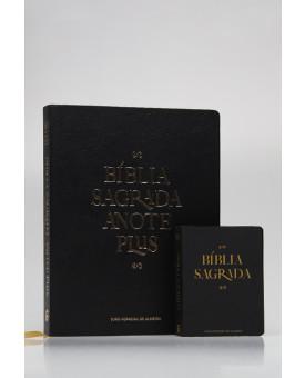 Kit Pai e Filho | Bíblia Sagrada Anote Plus Black Edition + Bíblia Para Evangelismo