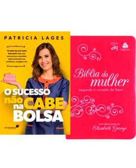 Kit da Mulher | O Sucesso não Cabe na Bolsa + Bíblia Pink/Branco