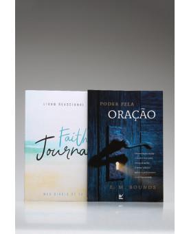 Kit Tempo de Orar | Devocional | Faith Journal | Aquarela Praia + Poder Pela Oração
