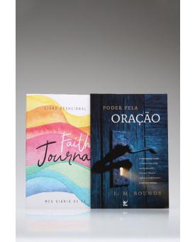 Kit Tempo de Orar | Devocional | Faith Journal | Aquarela Arco-Íris + Poder Pela Oração