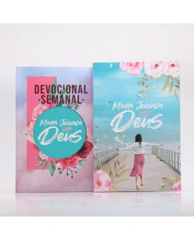 Kit Devocional Semanal Colagem + Minha Jornada com Deus | Menina dos Olhos