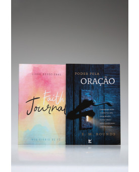 Kit Tempo de Orar | Devocional | Faith Journal | Aquarela Soft + Poder Pela Oração