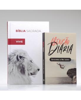 Kit Tempo com Deus | Bíblia ACF Ele Vive + Devocional Benção Diária