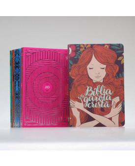 Kit Garota Cristã | Bíblia + Seus Evangelhos Comentados Livros Poéticos