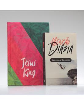 Kit Tempo com Deus | Bíblia ACF Jesus King + Devocional Benção Diária