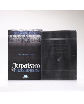 Kit Bíblia Judaica Completa Cinza + Judaísmo E Messianismo   Jesus e o Judaísmo