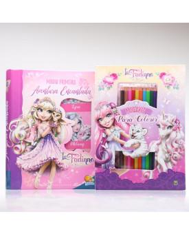 Kit Megakit Para Colorir + Box 6 Livros Minha Primeira Aventura Encantada   La Fadinne
