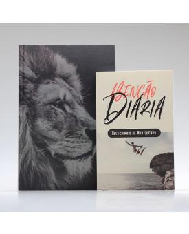 Kit Tempo com Deus | Bíblia ACF Leão Hebraico + Devocional Benção Diária