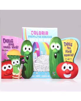 Kit Deus Fez Você Especial  + Tapete Para Colorir + Deus Ama Muito Você   Os Vegetais