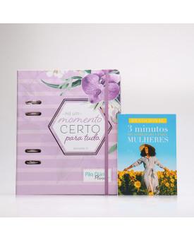 Kit Pão Diário Planner Orquídea + Grátis Devocional 3 Minutos de Sabedoria Para Mulheres | Herdeira da Fé
