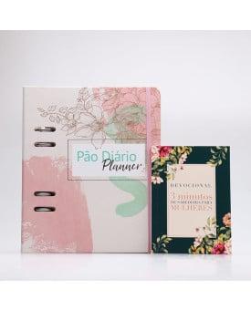 Kit Pão Diário Planner Azaléias + Grátis Devocional 3 Minutos de Sabedoria Para Mulheres | Herdeira da Fé
