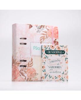 Kit Pão Diário Planner Rosas + Grátis Devocional 3 Minutos de Sabedoria Para Mulheres | Herdeira da Fé