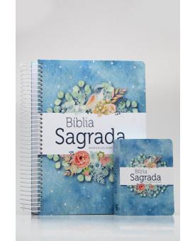 Kit Mãe e Filha | Bíblia Sagrada Anote Plus Pontos de Luz + Bíblia Para Evangelismo