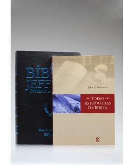 Kit Profecias | Bíblia Jeffrey Estudos Proféticos | King James | Preta e Azul + Todas as Profecias da Bíblia