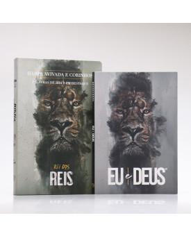 Kit Bíblia RC Harpa Letra Gigante Rei dos Reis + Eu e Deus Rei dos Reis | Cânticos ao Senhor
