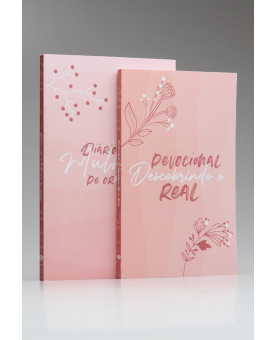 Kit Devocional Descobrindo o Real + Diário Para Mulheres de Oração | Minimalista