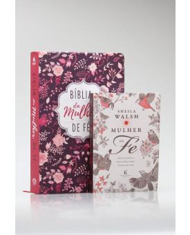 Kit Bíblia de Estudo da Mulher de Fé | NVI | Letra Normal | Florida + Mulher de Fé