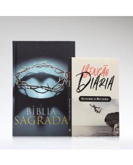 Kit Tempo com Deus | Bíblia ACF Coroa + Devocional Benção Diária