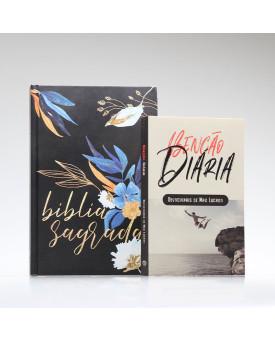 Kit Tempo com Deus | Bíblia ACF Flores + Devocional Benção Diária