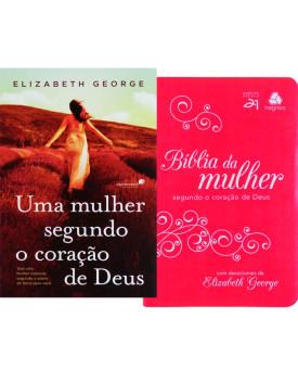 Kit Mulher de Fé | Mulher Segundo Coração de Deus + Bíblia da Mulher de Fé Pink